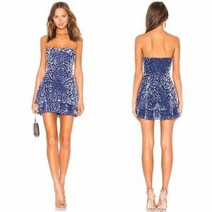 Majorelle blue embellished mini dress, size S